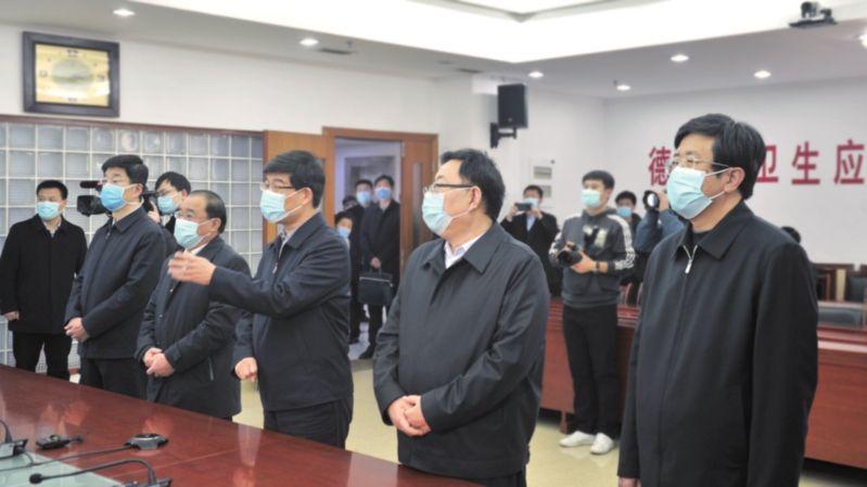 李猛、杨洪涛等市领导视频连线慰问德州援鄂医务人员